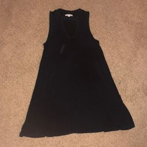 Navy T-shirt swing dress